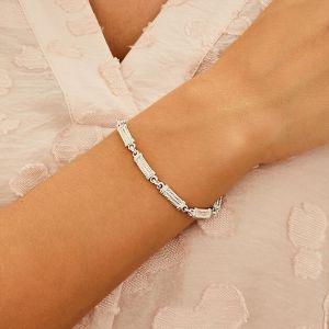Classic Pillar Silver Bracelet B2081-19
