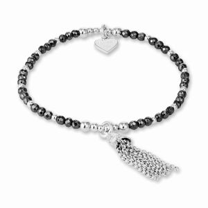 Annie Haak Eclipse Silver Bracelet - Hematite