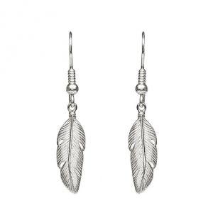 Annie Haak Feather Silver Earings-E0136