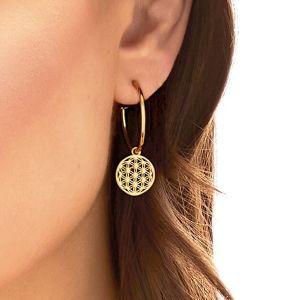 Annie Haak Flower of Life Hoop Gold Earings-E0273