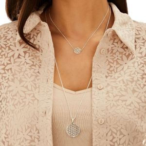 Annie Haak Flower of Life Silver Pendant Necklace N0538-43