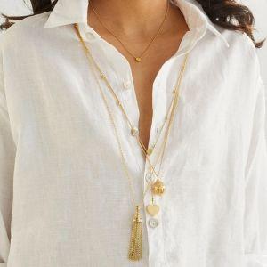 Annie Haak Gili Tassel Gold Necklace