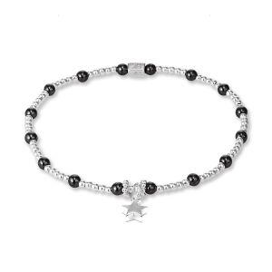 Annie Haak Hematite Solid Star Silver Bracelet B0740-17