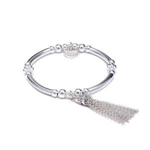 Annie Haak Indah Tassel Silver Charm Bracelet B0848-17