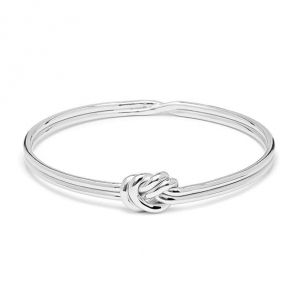 Annie Haak Lover's Knot Silver Bangle
