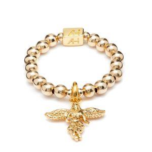 Annie Haak Mini Charm Gold Ring - My Guardian Angel R0173