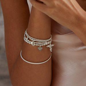 Annie Haak Mini Orchid Silver Charm Bracelet - Fabulous Mum