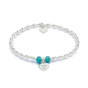 Annie Haak Mini Orchid Turquoise Charm Bracelet - Laughter Love Life