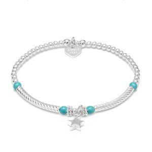 Annie Haak Pipa Turquoise Star Silver Charm Bracelet