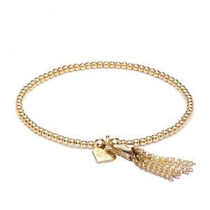 Annie Haak Santeenie Gold Chain Tassel Charm Bracelet