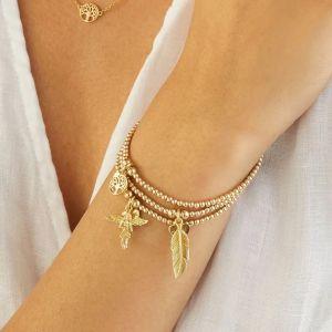 Annie Haak Santeenie Gold Charm Bracelet - Feather