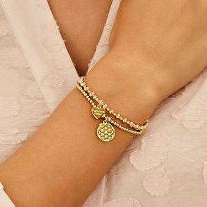 Annie Haak Santeenie Gold Charm Bracelet - Flower of Life B2069-17, B2069-19
