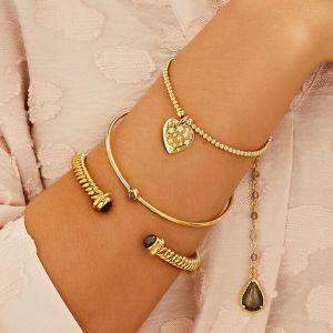 Annie Haak Santeenie Gold Charm Bracelet - Heart with Stars B2075-17, B2075-19
