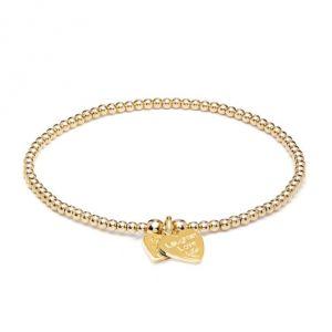 Annie Haak Santeenie Gold Charm Bracelet - Laughter Love Life