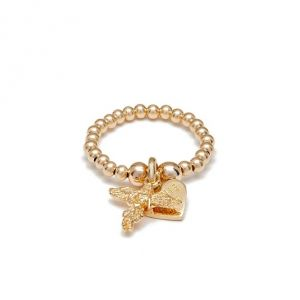 Annie Haak Santeenie Gold Charm Ring - My Guardian Angel