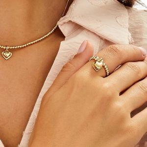 Annie Haak Santeenie Gold Charm Ring - Solid Heart