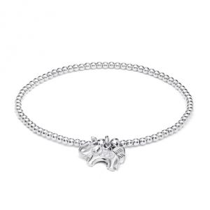 Annie Haak Santeenie Elephant Silver Charm Bracelet B0304-17