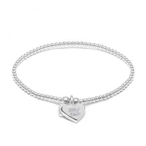 Annie Haak Santeenie Silver Charm Bracelet - Stay Safe