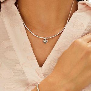 Annie Haak Santeenie Silver Charm Necklace - Solid Heart N0528-41-43