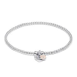 Annie Haak Santeenie Silver Charm Bracelet - Pink Daisy