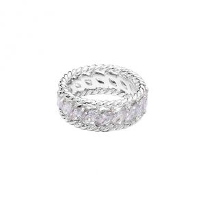 Annie Haak Saudara Silver Ring - Clear Crystal