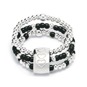 Annie Haak Serasi Tiga Hematite Silver Ring R0326