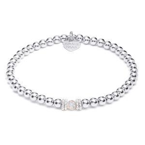 Annie Haak Seri Silver Bracelet with Crystal Bead