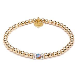 Annie Haak Seri Smoked Topaz Gold Bracelet B2164-17