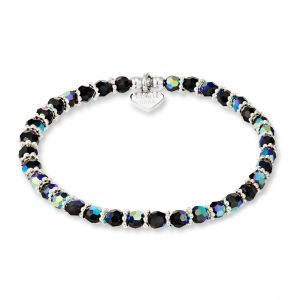 Annie Haak Shimmer Silver Bracelet - Jet Crystal B2169-17