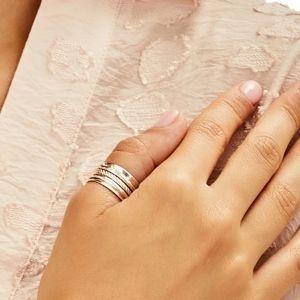 Annie Haak Three Heart Spinner Silver Ring
