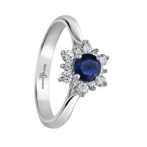 Brown and Newirth 'Aspen' Sapphire and Diamond Ring