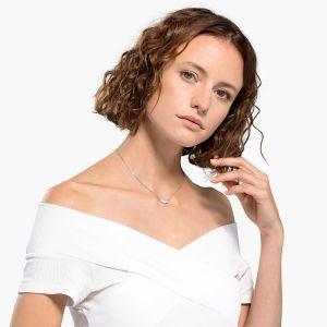 Swarovski Attract Soul Heart Necklace - Rhodium Plating - 5517117