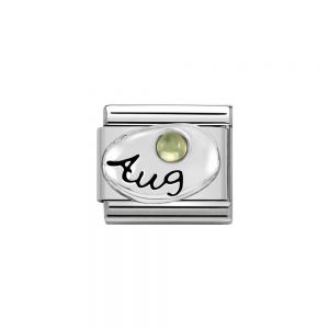 Nomination Classic Sterling Silver August Peridot Birthstone Charm