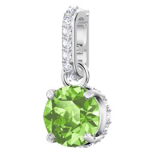 Swarovski Remix Collection Charm, August, Light Green, Rhodium Plating 5437317