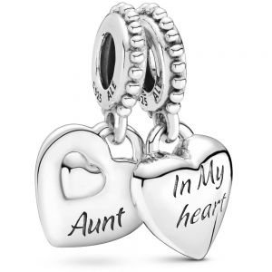 Pandora Aunt & Niece Split Heart Dangle Charm - 799188C00