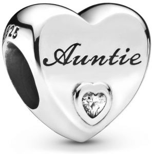 Pandora Auntie Love Heart Charm - 798261CZ