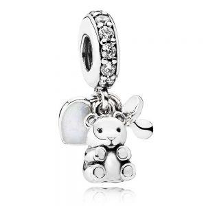 Pandora Baby Teddy Bear Dangle Charm - 792100CZ