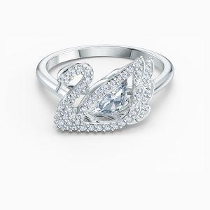 Swarovski Dancing Swan Ring - Rhodium Plating