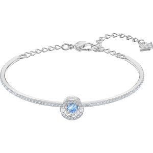 Swarovski Sparkling Dance Bangle, Blue, Rhodium Plating 5515385