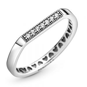 Pandora Sparkling bar stacking ring - 199041C01