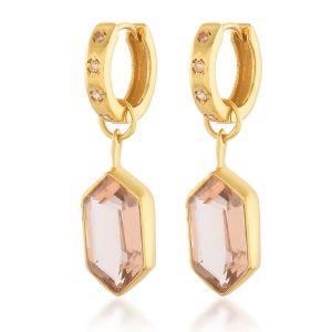 Shyla London Bardot Huggie Earrings - Champagne
