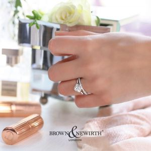 Brown and Newirth 'Beatrice' Vintage Style Engagement Ring
