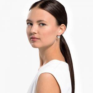 Swarovski Bella Heart Pierced Earrings - Rhodium Plated 5515191