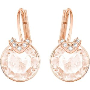 Swarovski Bella V Pierced Earrings, Pink, Rose Gold Plating 5299318
