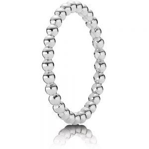 Pandora Silver Beaded Ring-190615-48, 50, 52, 54, 56, 58, 60