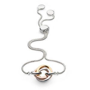 Kit Heath Bevel Trilogy Gold and Rose Gold Toggle Bracelet 7169GRG