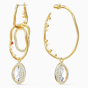 Swarovski Shell Pierced Earrings - Large - Gold-Tone Plating