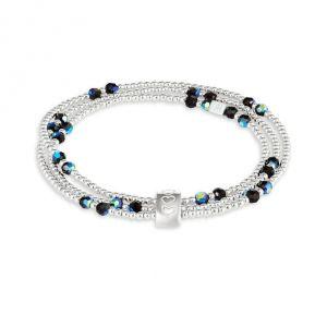 Annie Haak Blissful Silver Looped Bracelet - Jet Crystal