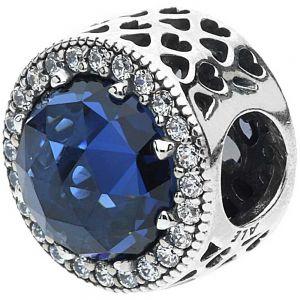 Pandora Sparkling Dark Blue Charm - 791725NMB