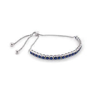 Sarah Alexander Blue Moon Indigo Zirconia Tennis Toggle Bracelet